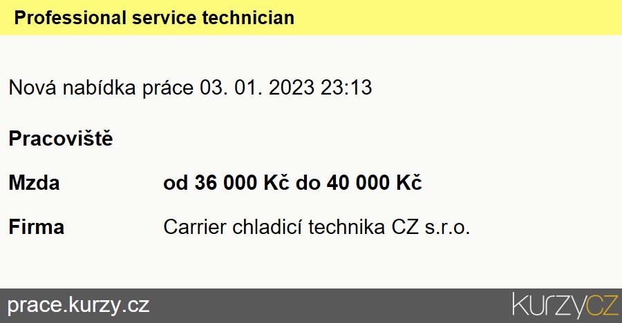 Professional service technician, Mechanici klimatizací a chladicích zařízení